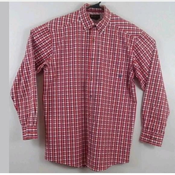 5d93157720 ... Ariat Shirts Mens Medium Plaid Vented Shirt Long Sleeve Poshmark